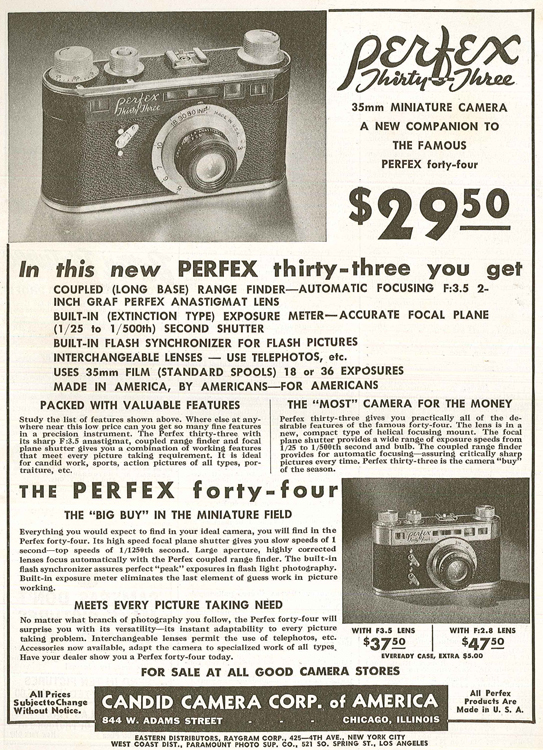 Camera Corp of America Perfex Thirty Three