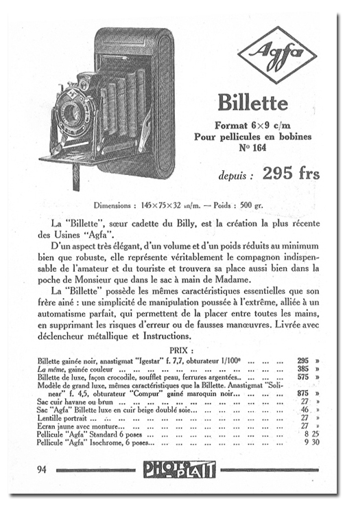 Agfa Billette