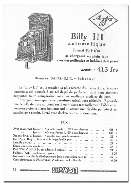 Agfa Billy III