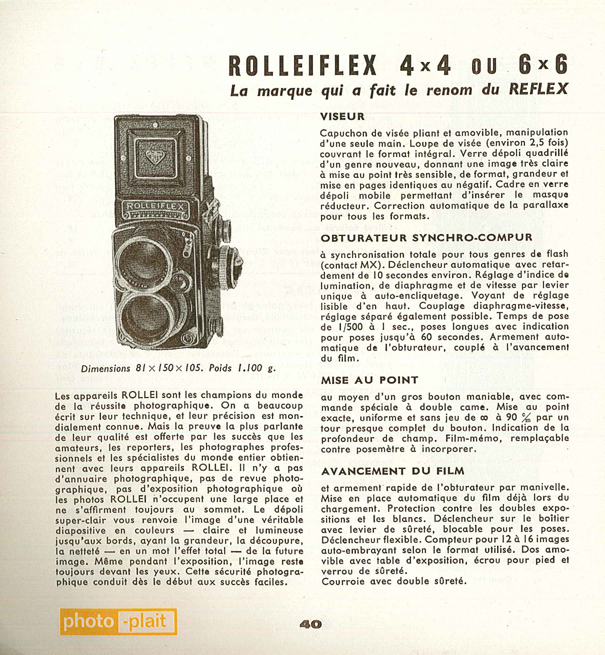 Rollei Rolleiflex Grand angle