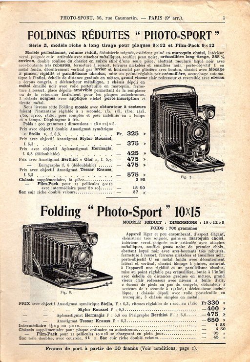 Photo-Sport Folding Réduite série Z
