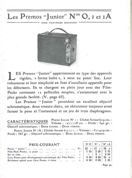 Kodak Premo Junior n°0