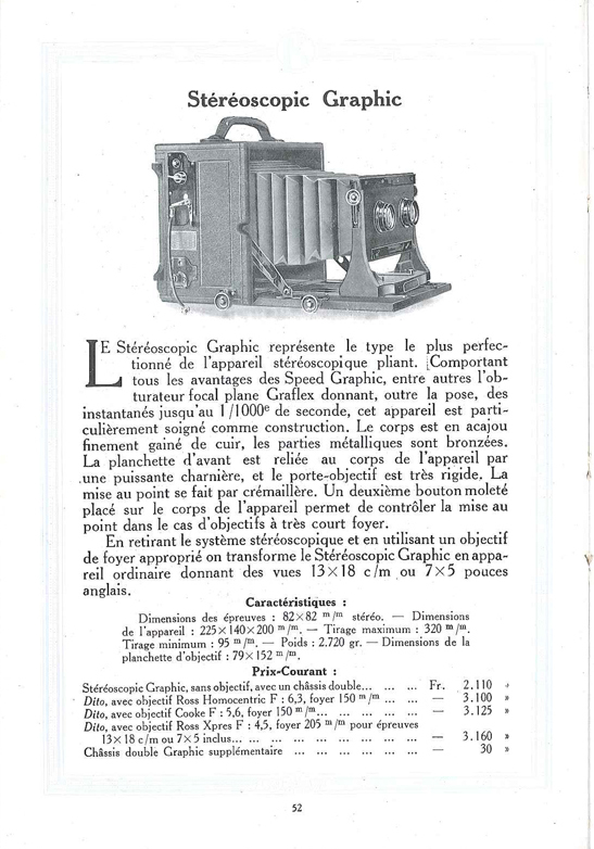 Graflex Stereoscopic Graphic