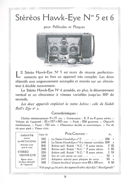Kodak Stéréo Hawk-eye n°6