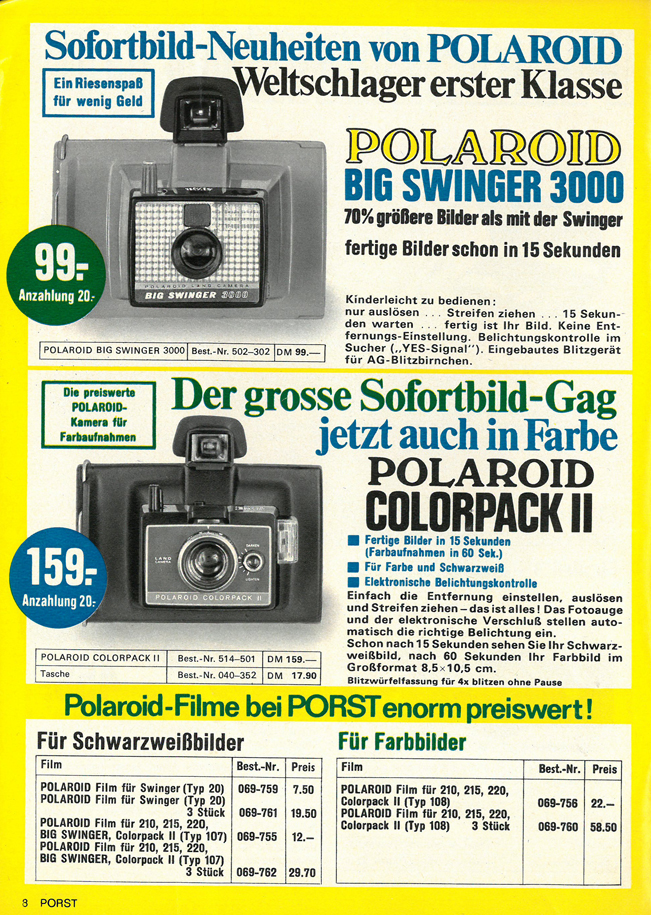 Polaroid Big Swinger 3000