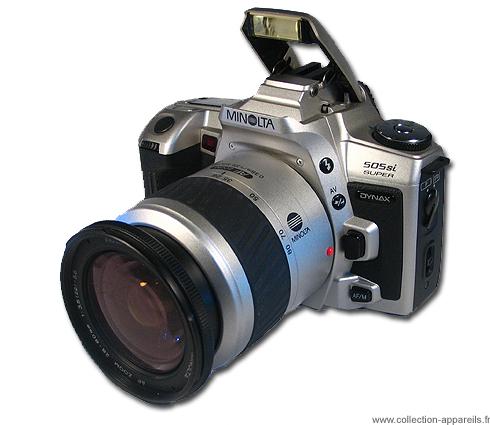 minolta dynax 505si super vintage cameras collection by sylvain halgand rh collection appareils fr Minolta X 370 35Mm Camera Minolta 500Mm Reflex Lens