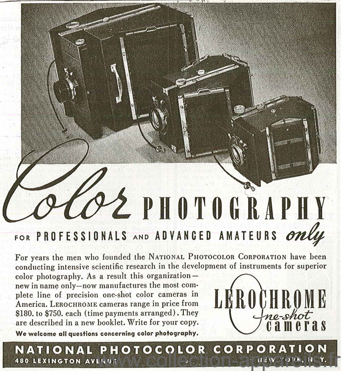 National Photocolor Corp. Lerochrome One-Shot Color