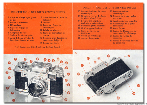 Zeiss Ikon Contax IIIa Vintage cameras collection by Sylvain